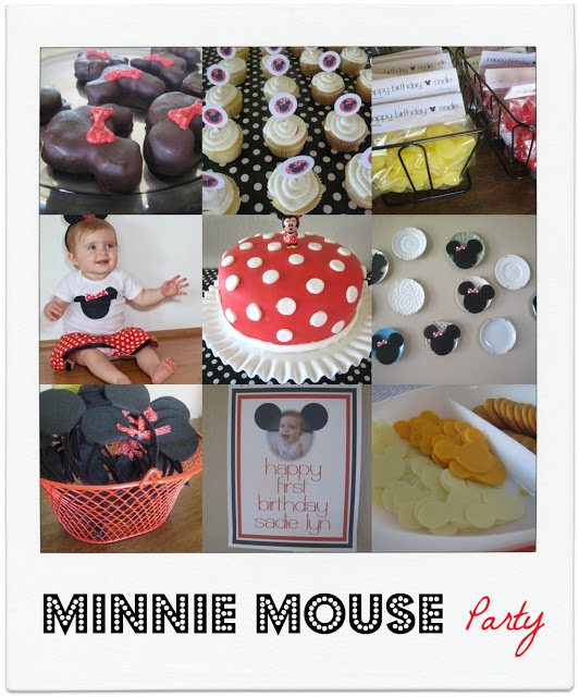 minnie mouse first birthday party!