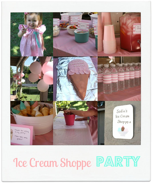 ice cream shoppe birthday party