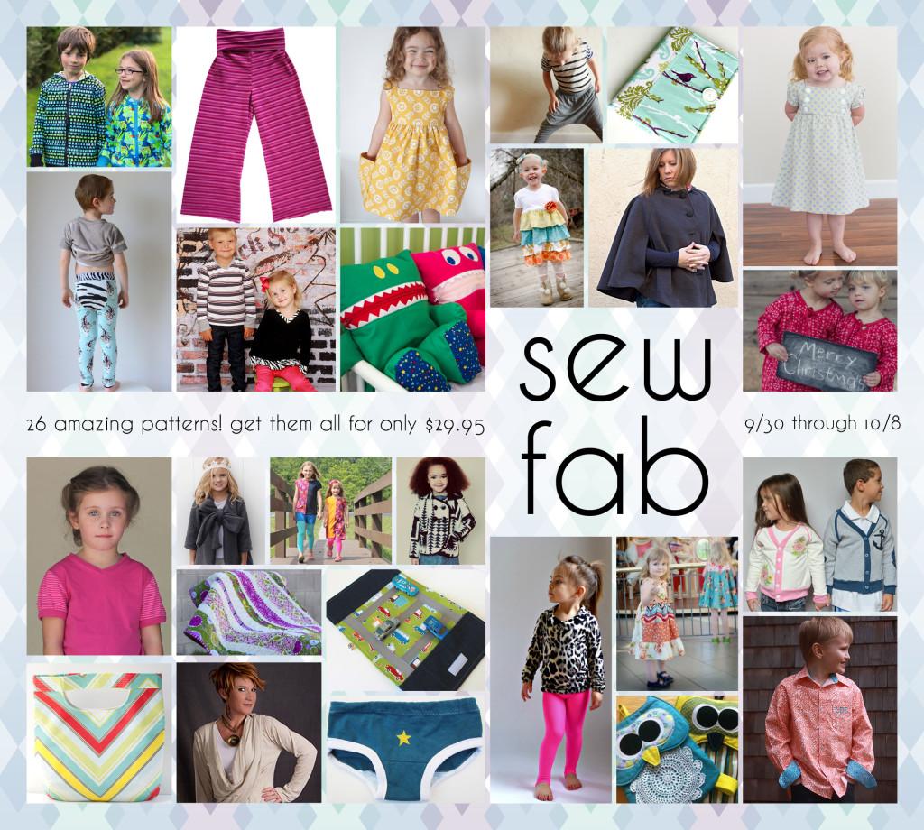 sew fab sale pattern collage