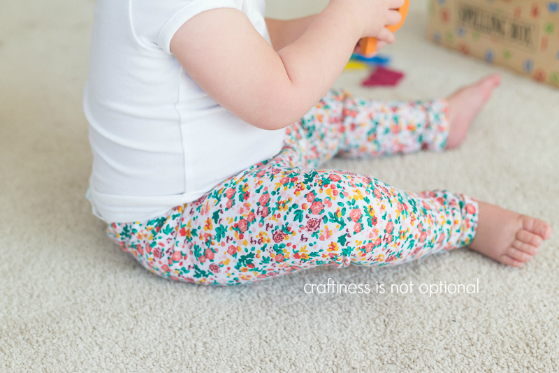 floral go to leggings by craftiness is not optional