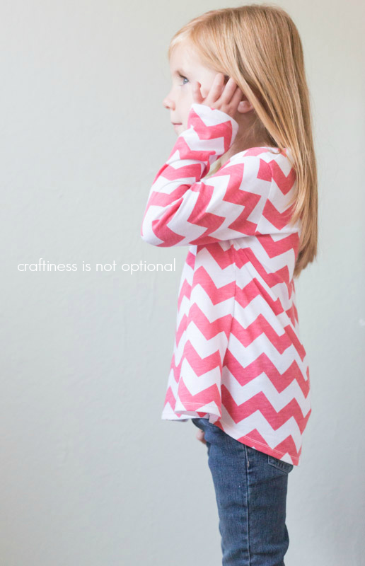 pink chevron nessie top by craftiness is not optional