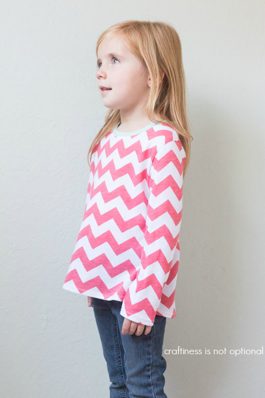 pink chevron top by craftiness is not optional