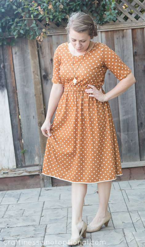 mustard dot knit dress by craftiness is not optional