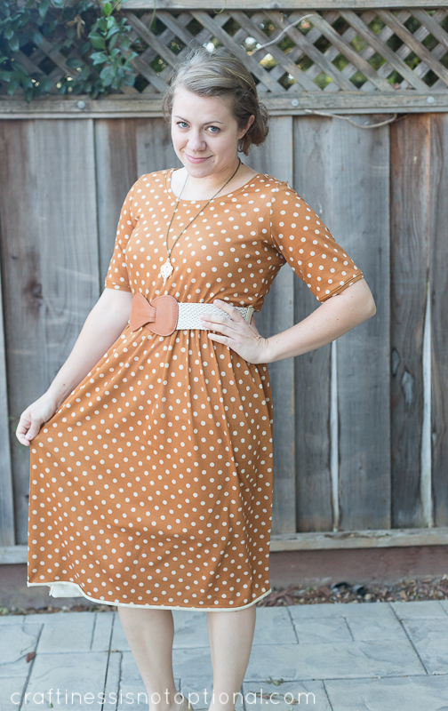 mustard knit dress by craftiness is not optional