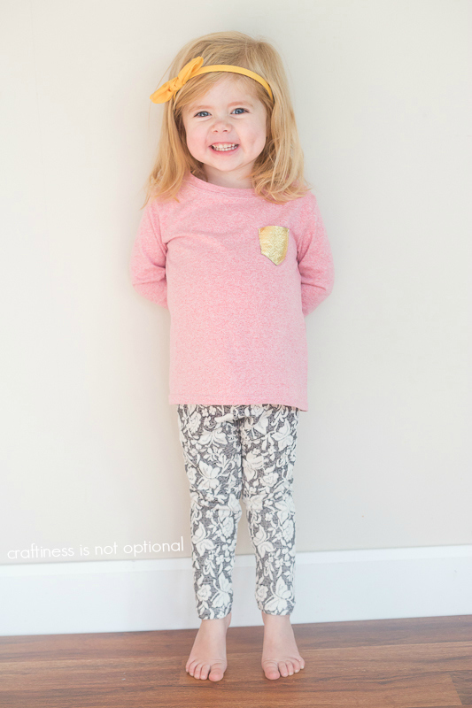 heathered nessie top and butterfly leggings sewn by craftiness is not optional