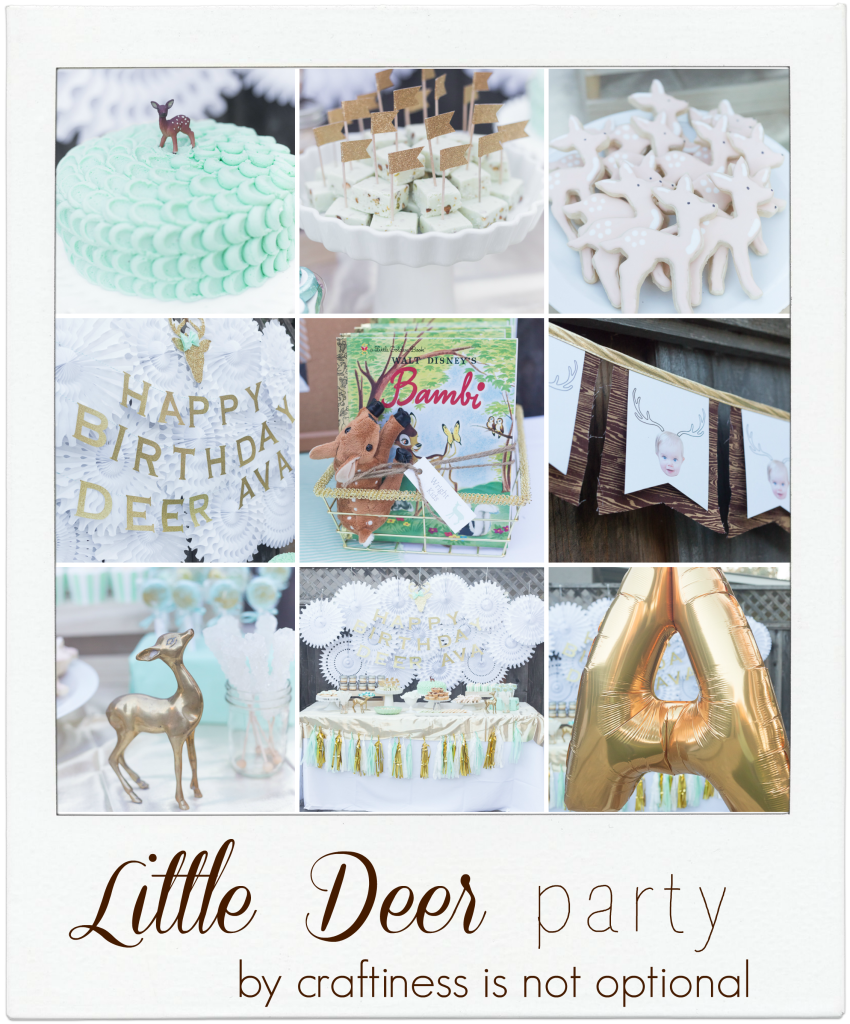 mint and green deer party by craftiness is not optional