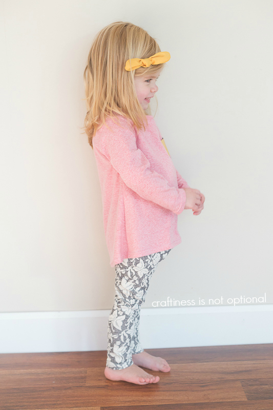 pink nessie top and butterfly leggings sewn by craftiness is not optional