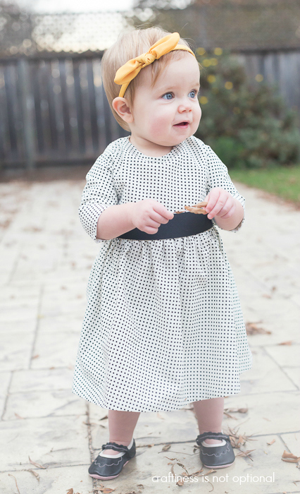 sweet polka dotted 5 and 10 designs dress with sleeves  craftiness is not optional