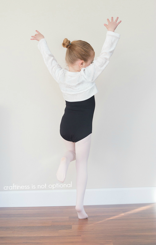 ballet sweater sewn by craftiness is not optional