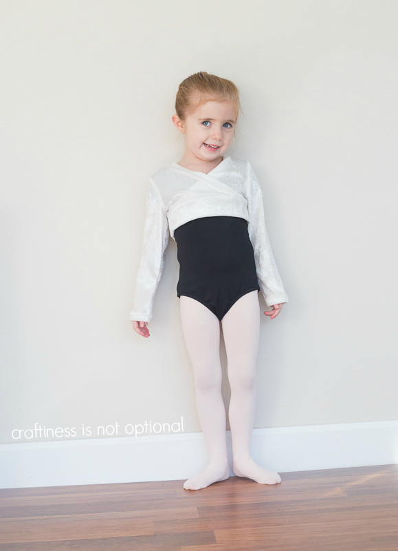 white ballet sweater sewn by craftiness is not optional