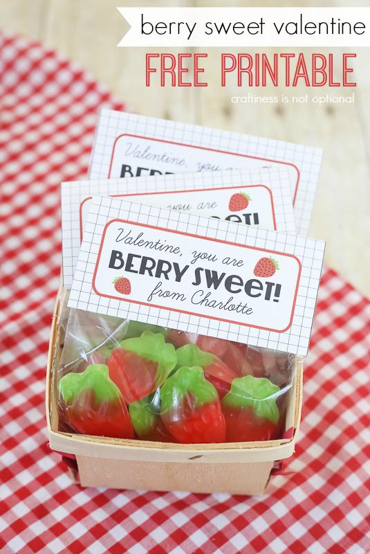 """berry sweet"" Valentine FREE printable!"