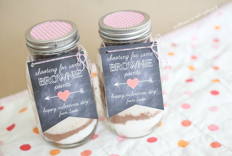 brownie mix valentine gift free printable