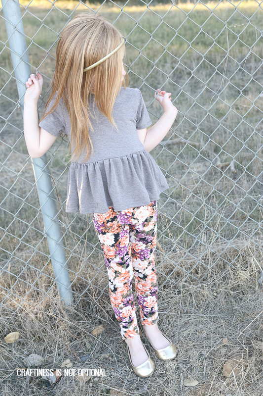 floralgoto leggings and gold dot pippa peplum