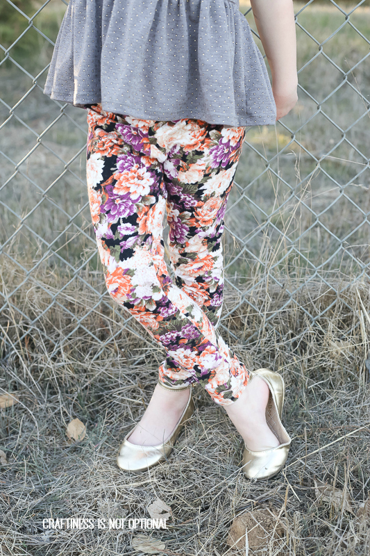 KCWC: floral go to leggings and gold dot pippa peplum