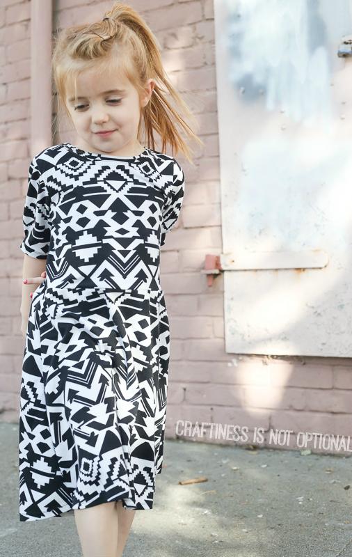 aztec print skater dress