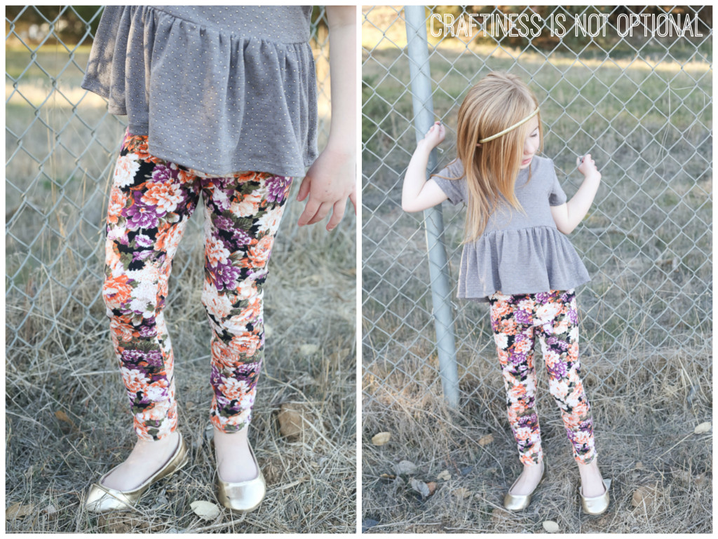 floral goto leggings and gold dot pippa peplum