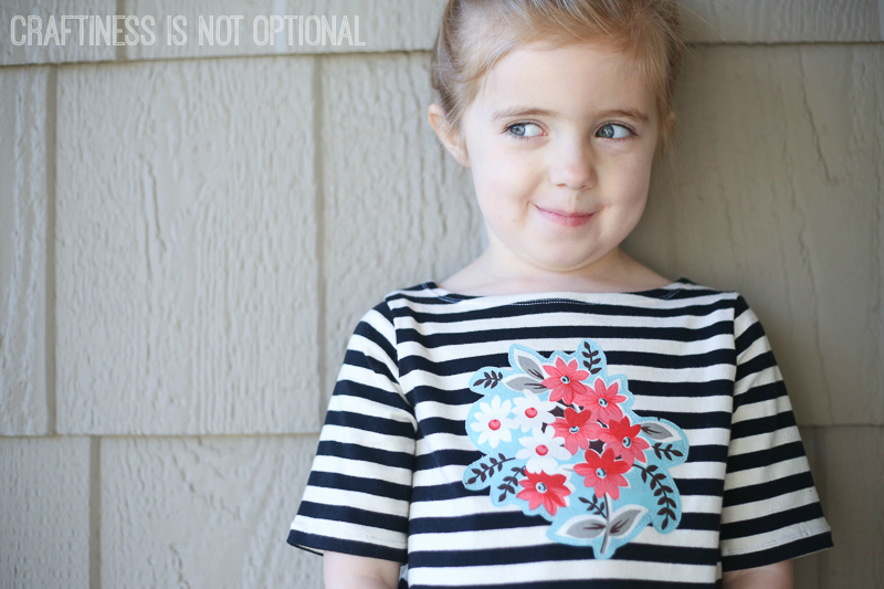 floral and striped tee