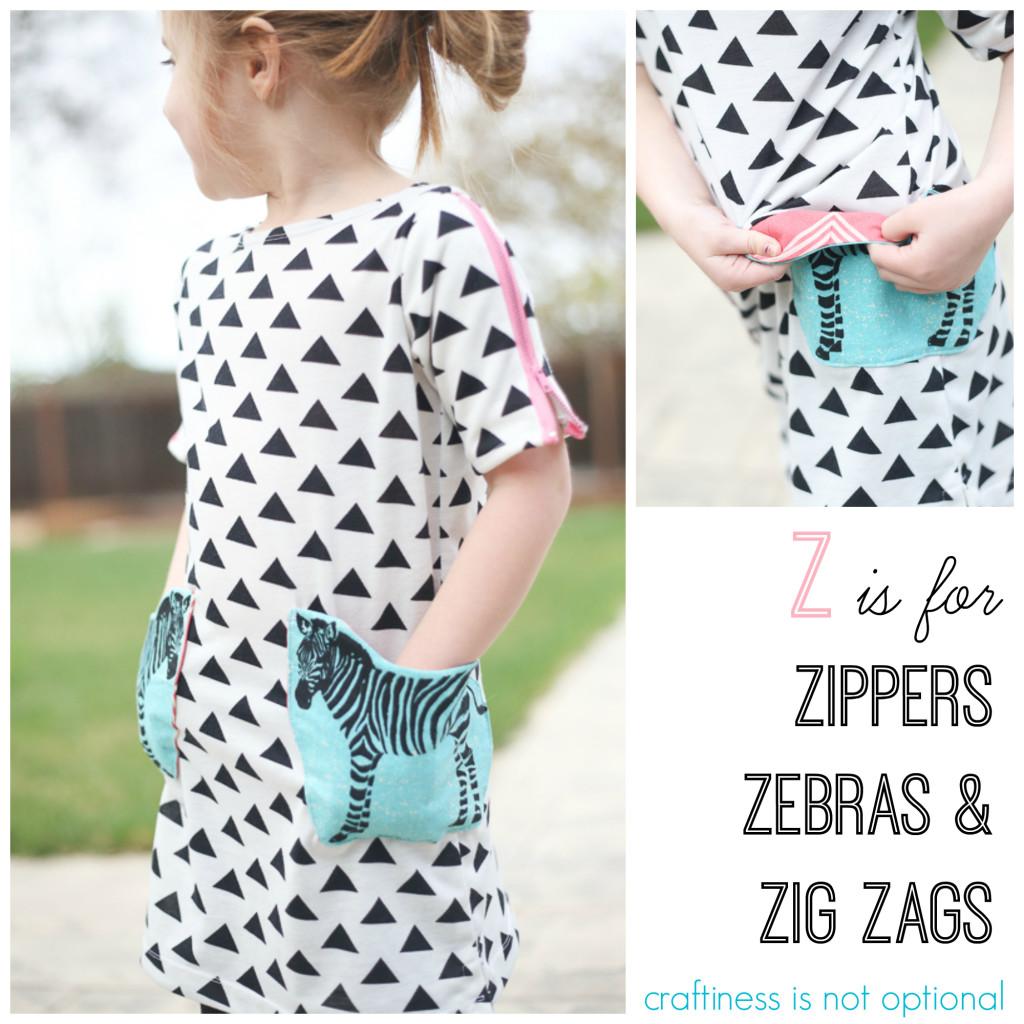 """""""Z"""" is for zipper, zebra, and zig zag"""