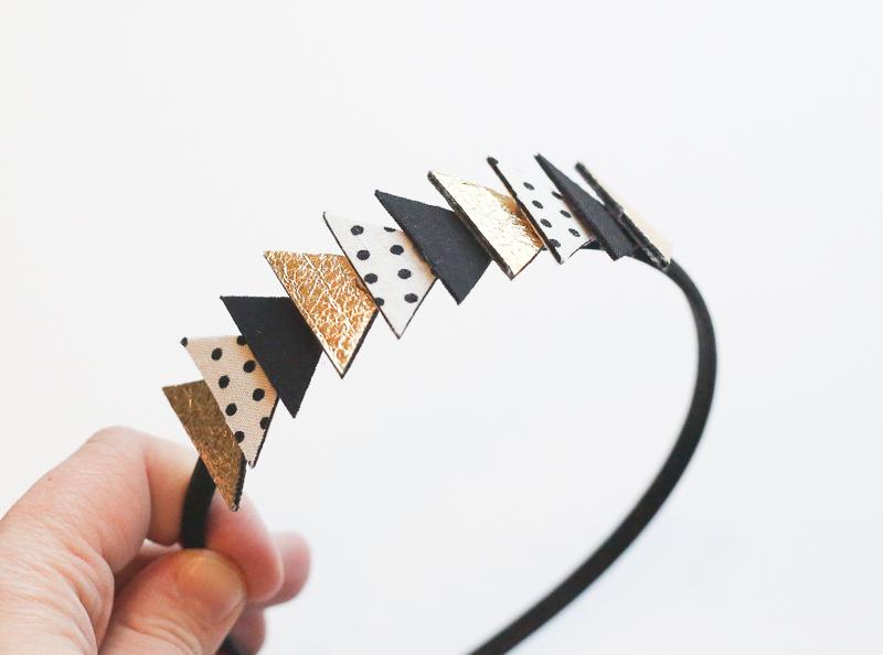 fabric triangle headband tutorial
