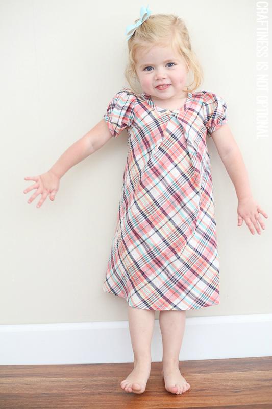 plaid lizzy dress