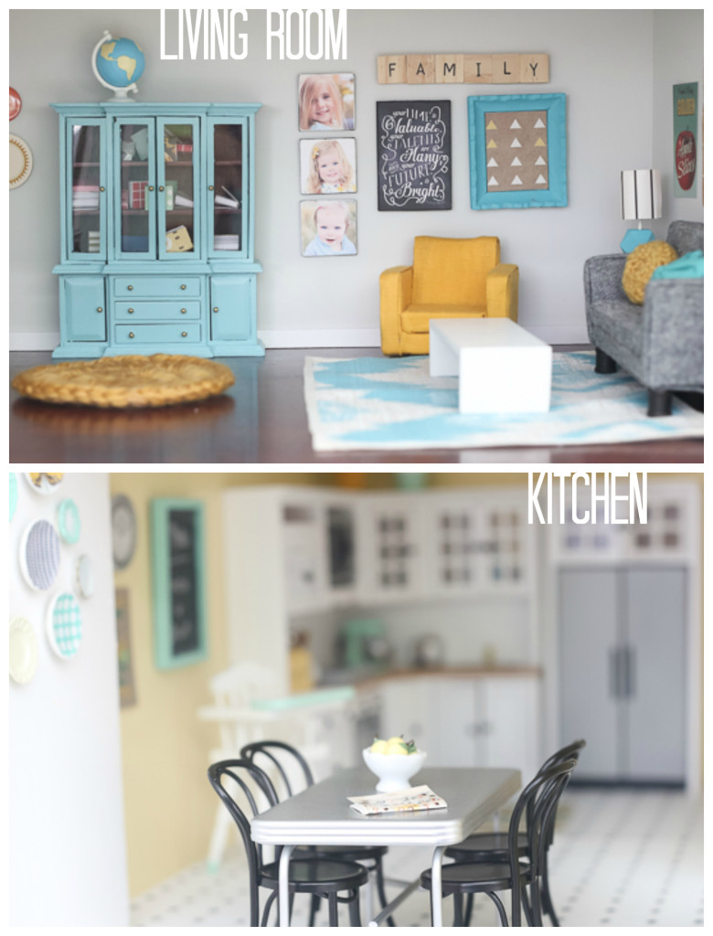 DIY dollhouse  living room & kitchen by craftiness is not optional