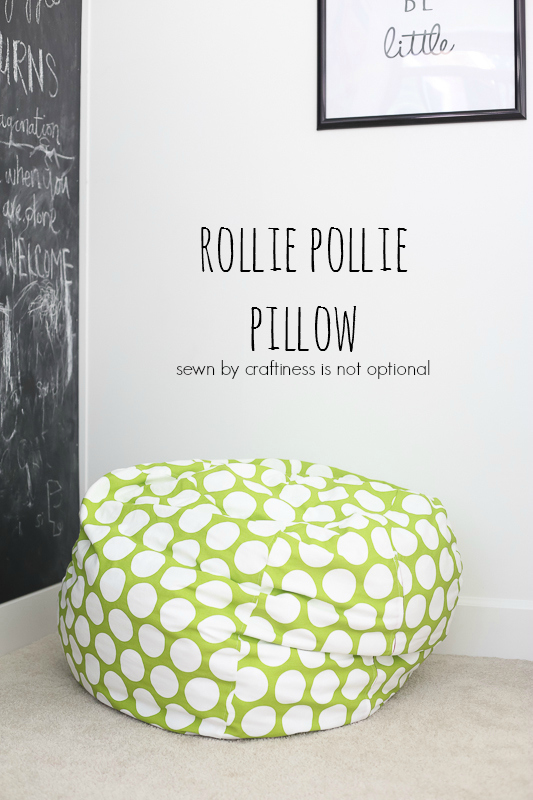 rollie pollie pillow || pattern by MADE || sewn by craftiness is not optional