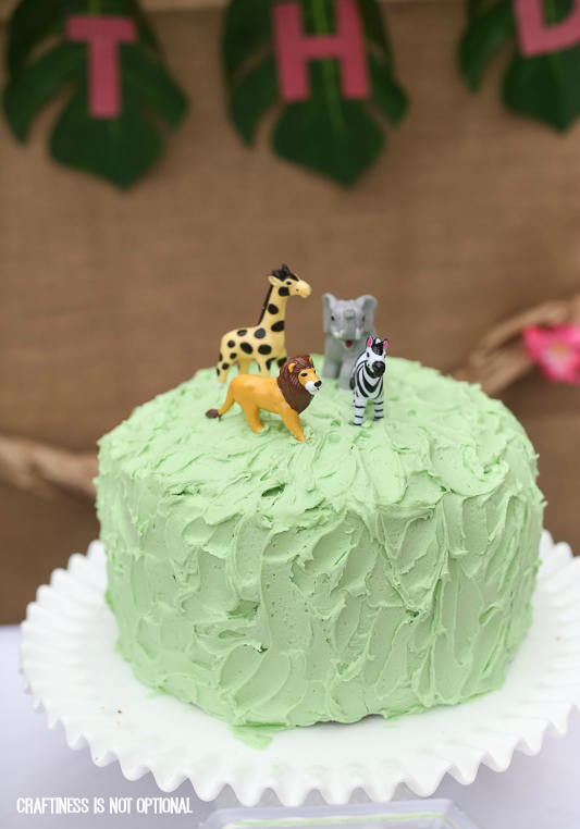 girly jungle birthday bash || craftiness is not optional