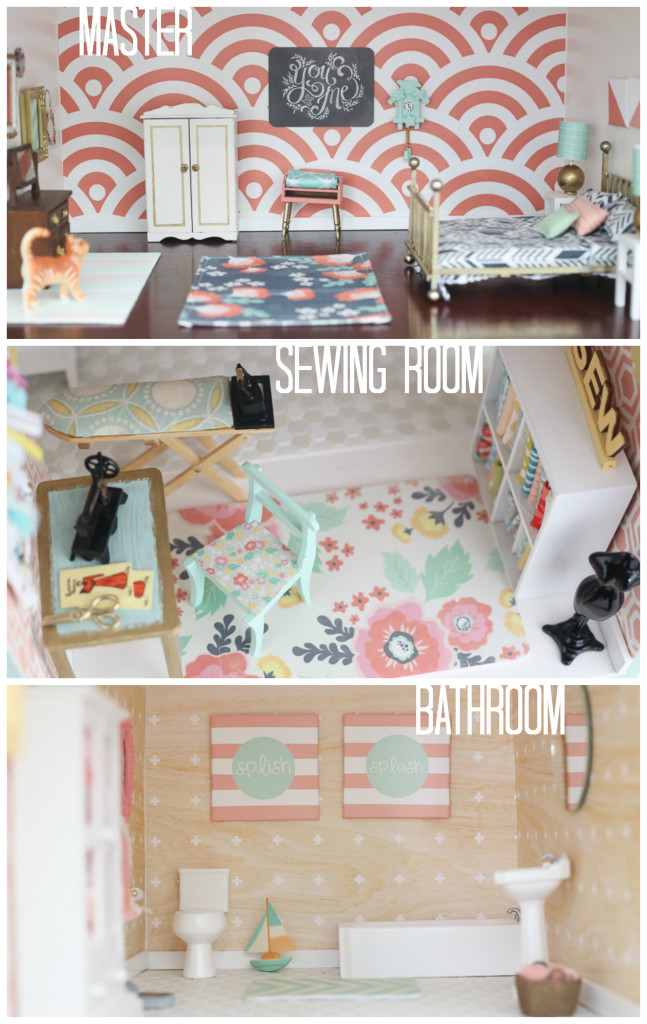 DIY dollhouse || master sewing room bathroom by craftiness is not optional