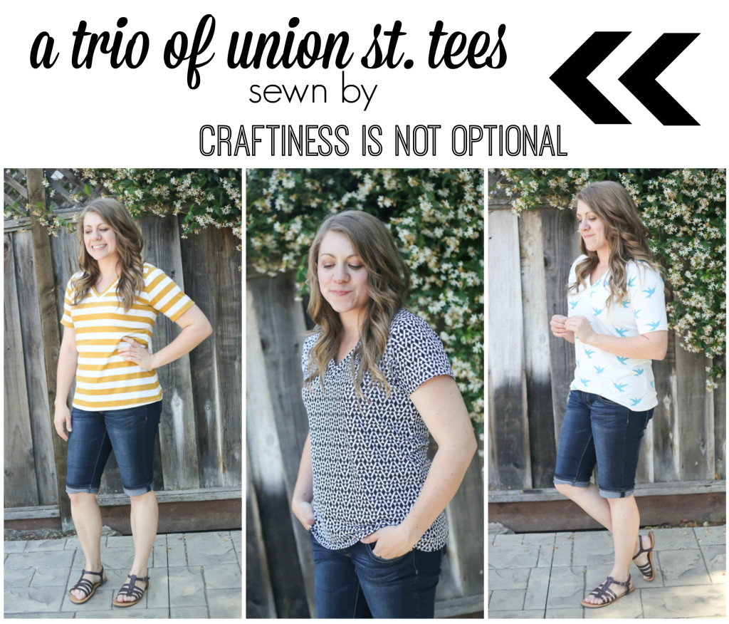 a trio of union st. tees || sewn by craftiness is not optional