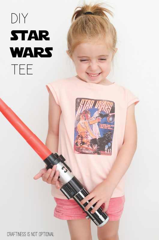 DIY vintage star wars tee