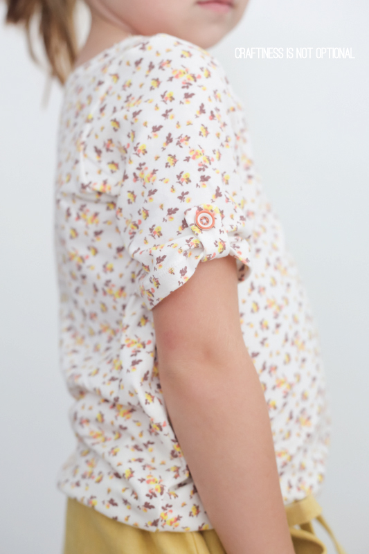 tiger & floral tee plus a yellow skirt \\ craftiness is not optional