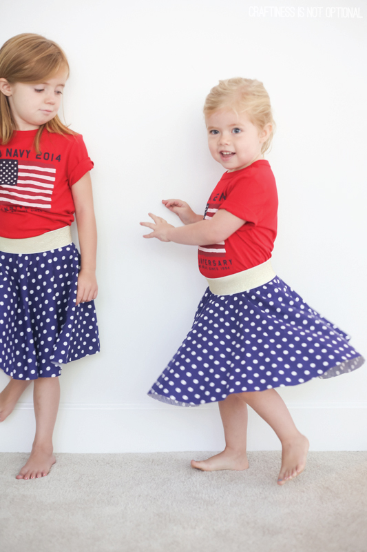 fourth of july circle skirts