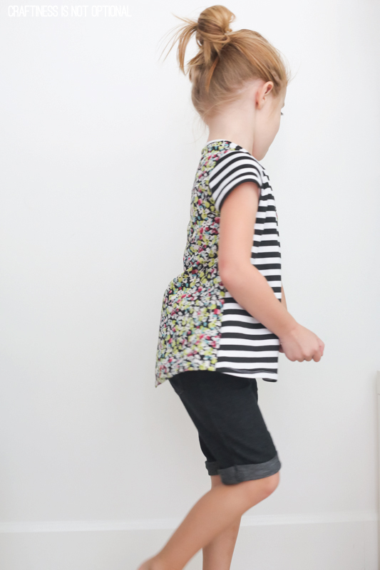 mixed fabric Nessie top \\ craftiness is not optional
