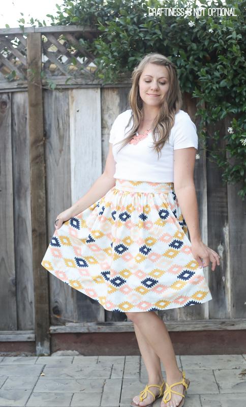 arizona full gathered skirt \\ craftiness is not optional