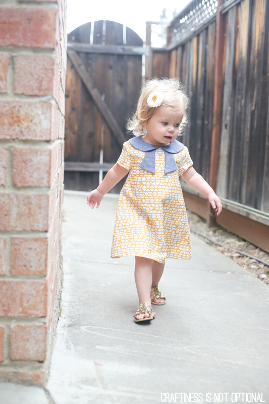 yellow and chambray norah dress \\ sewn by craftiness is not optional