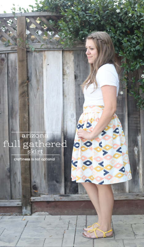 arizona full gathered skirt \\ craftiness is not optional
