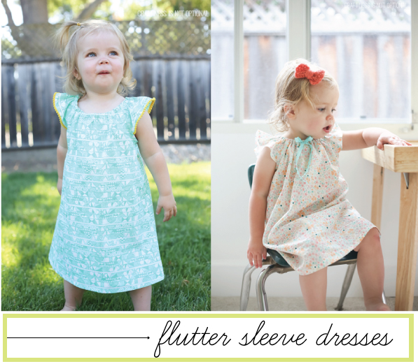 voile flutter sleeved dress \\ craftiness is not optional