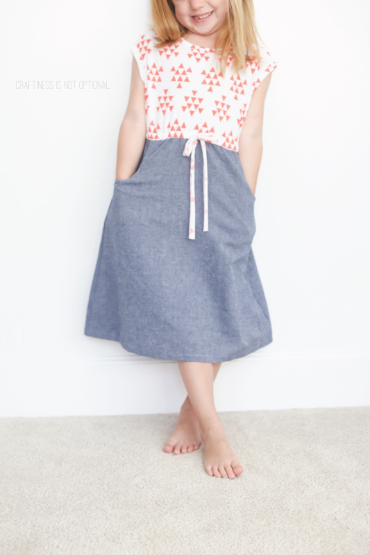 coral triangles and chambray Lulu dress \\ craftiness is not optional