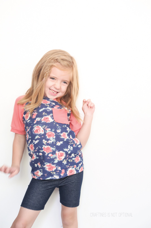 floral coral raglan tee \\ craftiness is not optional