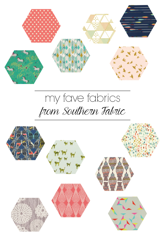 fave fabrics from southern fabric \\ giveaway!!