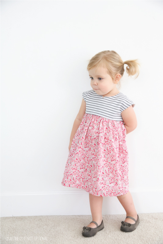 pretty liberty floral and striped geranium dress