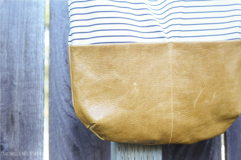 DIY leather bag (and leather hide giveaway!)