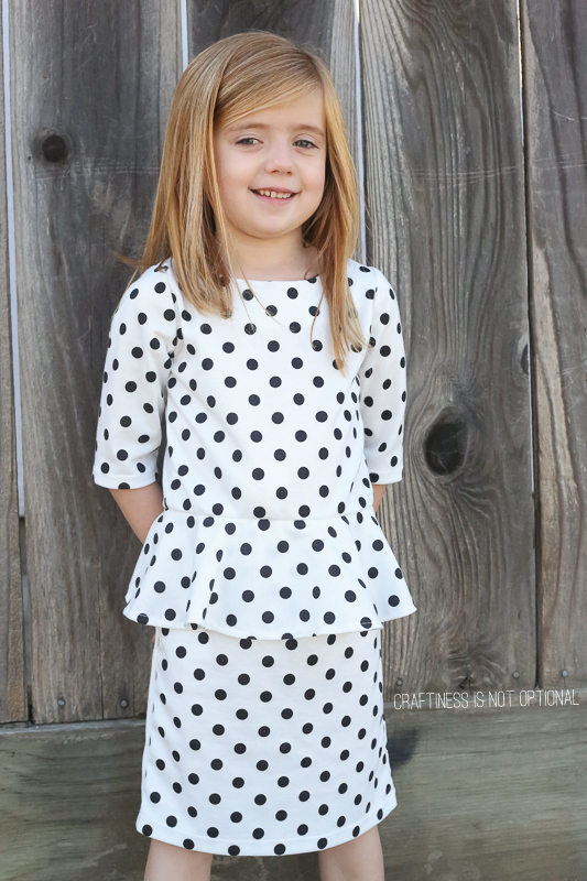 pretty in peplum polka dot dress \\sewn by craftiness is not optional