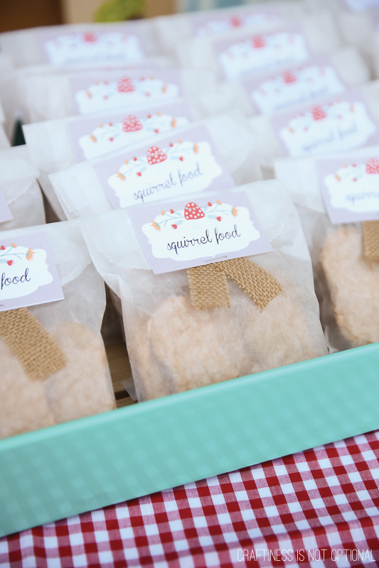 woodland party favors