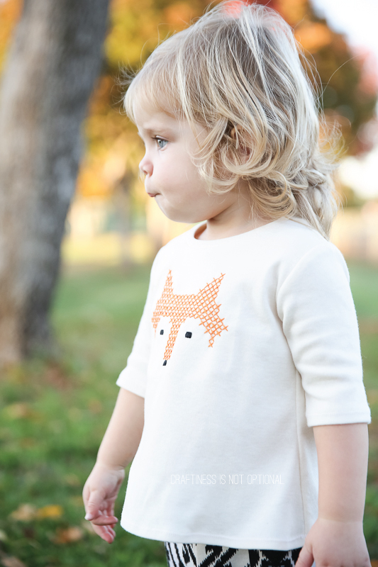 little fox free cross stitch pattern and tutorial