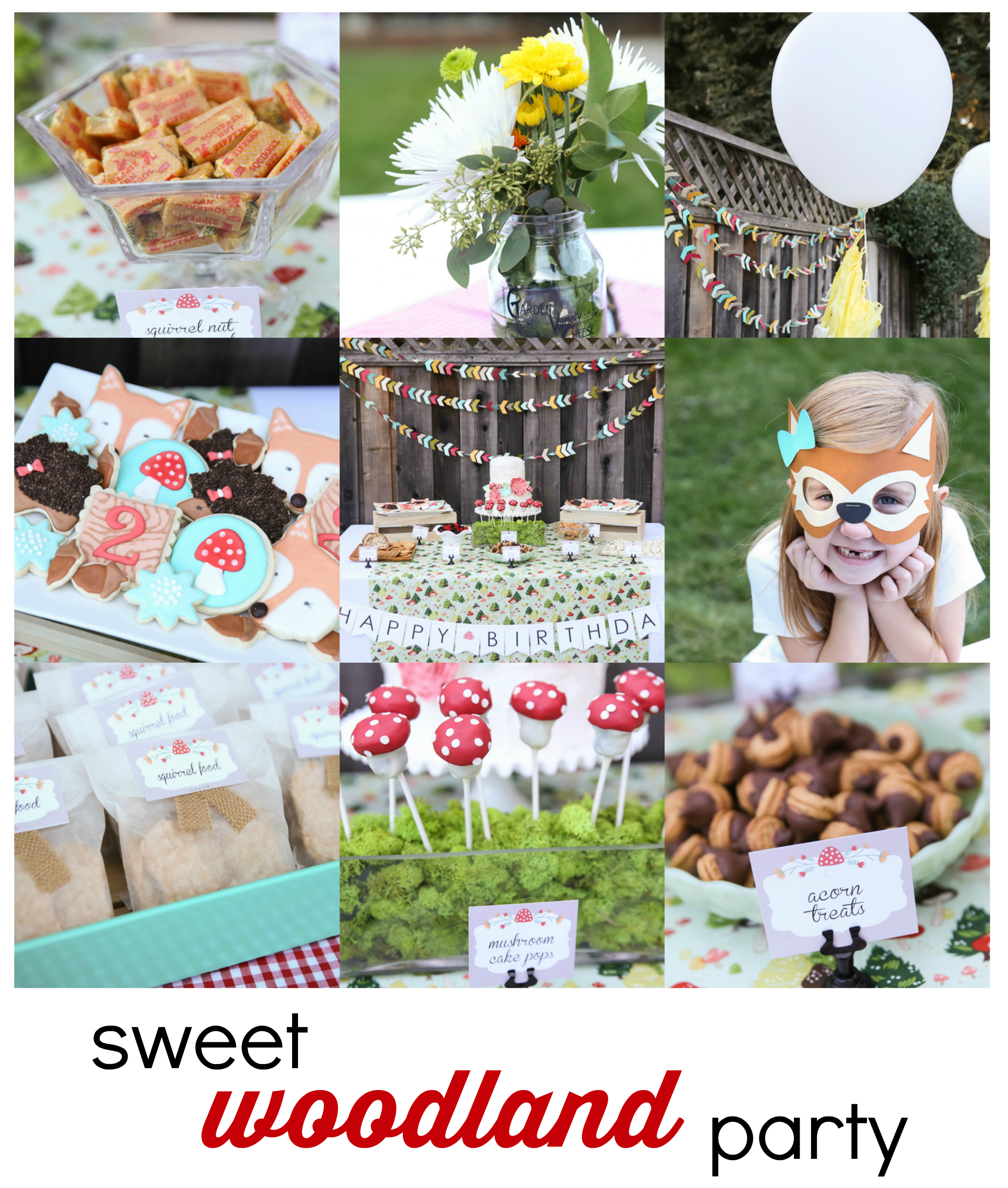 sweet woodland birthday party