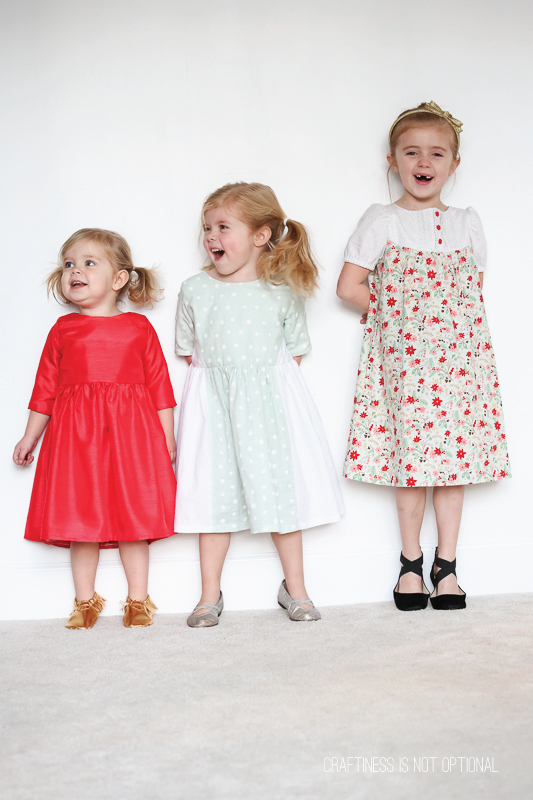 Christmas dresses that coordinate perfectly for the season!