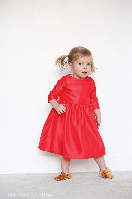 Ava's 5&10 Designs cherry red Christmas dress