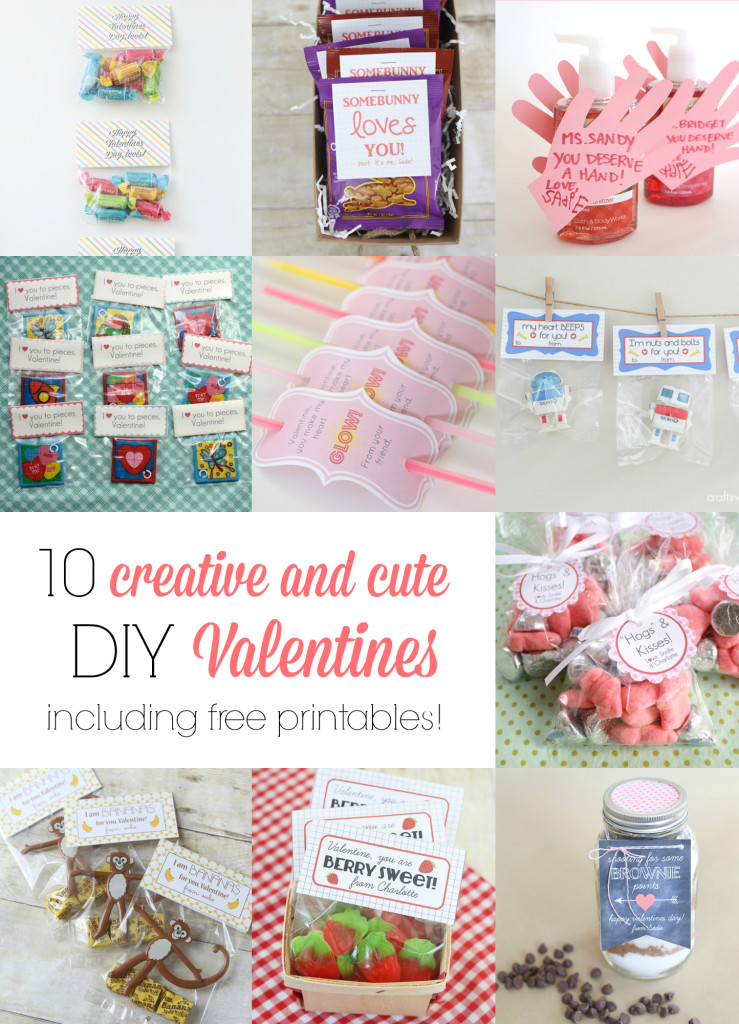 10 creative and cute DIY Valentines (and lots of FREE printables!)