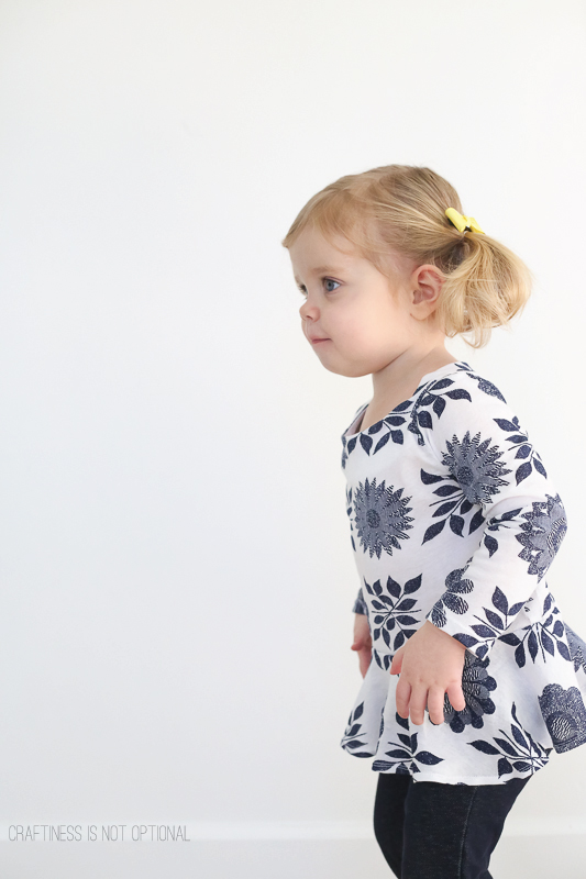 floral peplum top-craftiness is not optional